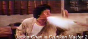 Jackie Chan spitting fire